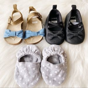Lot of 0-3M Baby Shoes - 3 pairs
